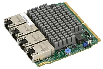 AOC-MTG-i4T SIOM, 4x 10Gbase-T, Intel X550
