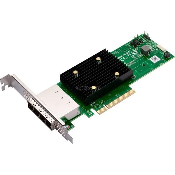 Broadcom HBA 9500-16e Tri-Mode - SATA 6Gb/s / SAS 12Gb/s / PCIe 4.0 (NVMe)