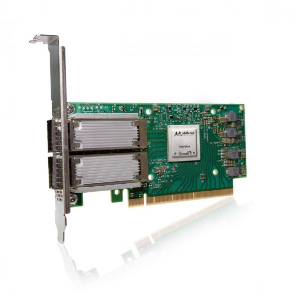 MCX556A-ECAT - ConnectX®-5 VPI adapter card, EDR IB (100Gb/s) and 100GbE, dual-port QSFP28