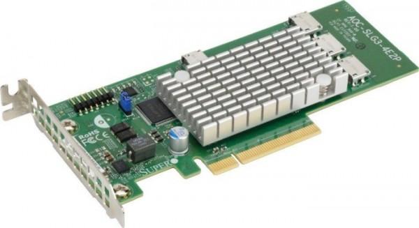 AOC-SLG3-4E2P Low Profile Quad-Port NVMe Internal Host Bus Adapter