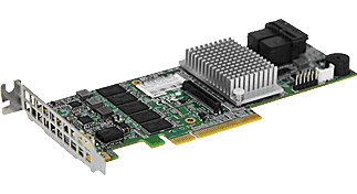 AOC-S3108L-H8iR-16DD Low Profile 12Gb/s Eight-Port SAS Internal RAID Adapter, supports up to 16 HDD