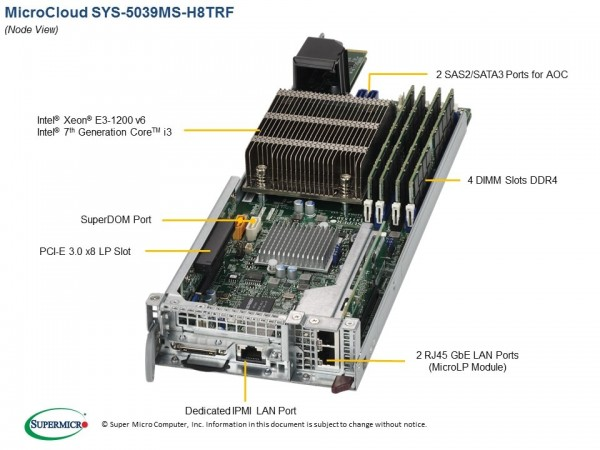 SYS-5039MS-H8TRF - Node
