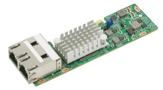 AOC-CTGS-i2T 2xRJ45 10Gbps Port Intel X550