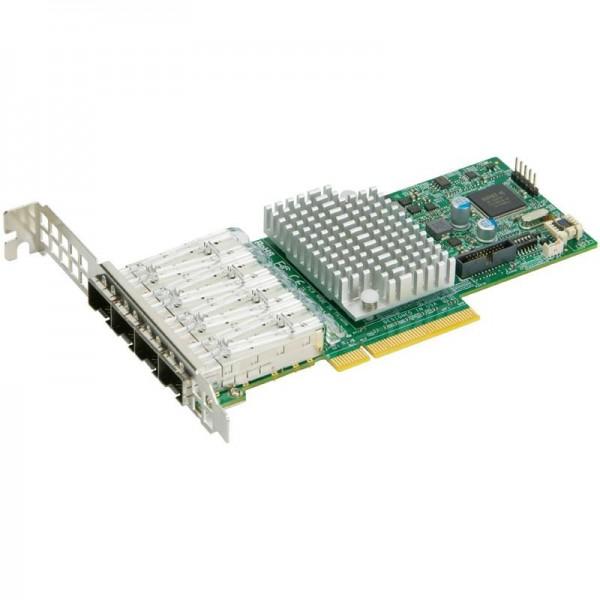 AOC-STG-I4S Std LP 4-port 10G SFP+, Intel XL710