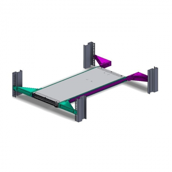 """NVIDIA 19"""" Rack Fixed Mounting Kit for SN2100/SN2010 Systems Single Switch Short Depth"""