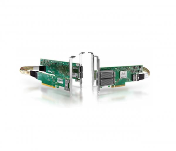 MCX556M-ECAT-S25 - ConnectX®-5 VPI adapter card, EDR IB (100Gb/s) and 100GbE, dual-port QSFP28