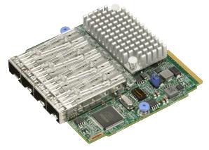 AOC-MTG-I4S SIOM 4x SFP+ connectors 10Gbps Port Intel 82599ES
