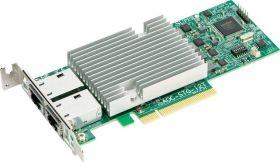 AOC-STGS-I2T 2-port 10GbE Standard Low-profile dual-port 10Gbase-T with NC-SI, Intel X550