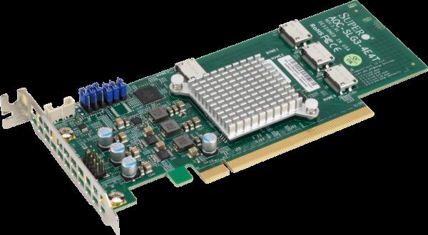 AOC-SLG3-4E4T Low Profile Quad-Port NVMe Internal Host Bus Adapter