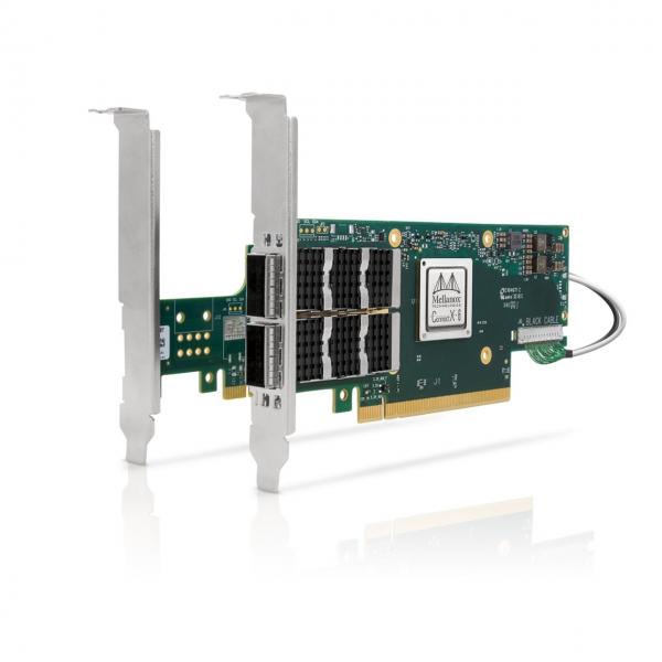 MCX654106A-ECAT - ConnectX®-6 VPI adapter card kit, 100Gb/s, dual-port QSFP56