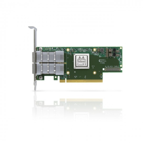 MCX653106A-HDAT-SP - ConnectX®-6 VPI adapter card, HDR IB (200Gb/s) and 200GbE, dual-port QSFP56