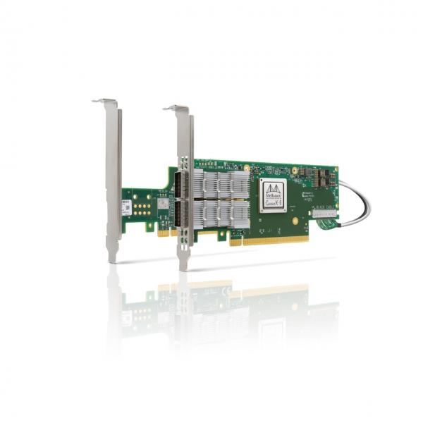 MCX654106A-HCAT - ConnectX®-6 VPI adapter card kit, HDR IB (200Gb/s) and 200GbE, dual-port QSFP56